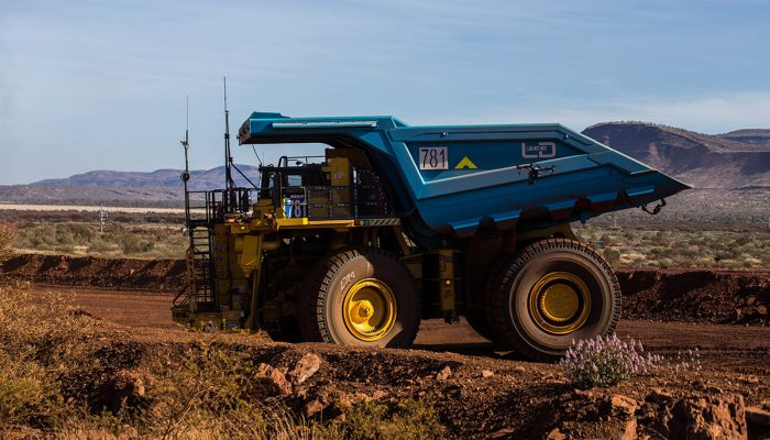 Rio Tinto haul truck, one commonly worked on with mining fabrication